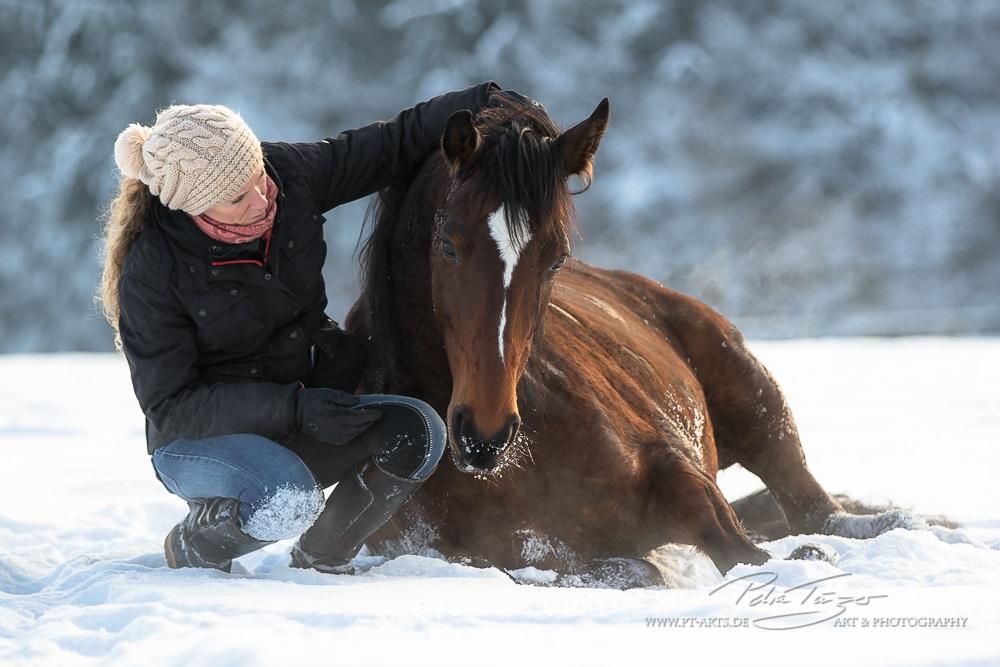 Mit Billy im Schnee