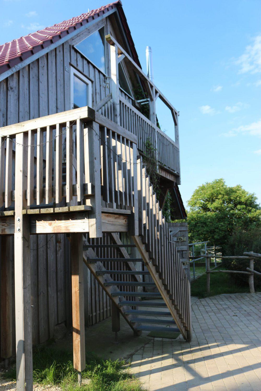 Die Treppe zur Ferienwohnung
